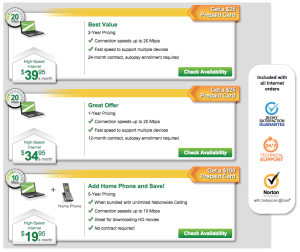 CenturyLink Internet Pricing, Bend, Oregon