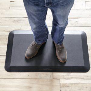 VARIDESK- 5_8 Non-Slip Anti-Fatigue Comfort Mat 20x34, for Kitchens or Standing Desk