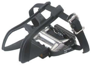 Avenir Ultralight Pedals with Toe Clips and Straps